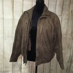 Brown Vintage Leather Thinsulated Jacket